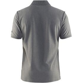 Craft Classic Polo Pique T-shirt Homme, dark grey melange